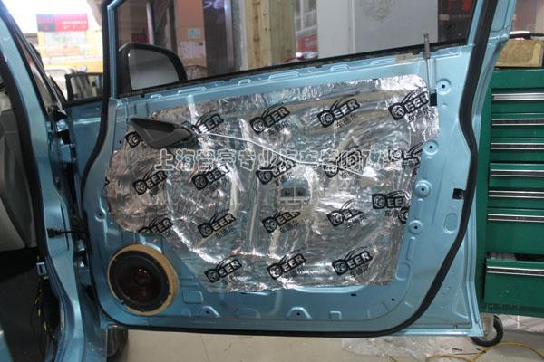 【上海汽车音响改装】新赛欧升级雷贝琴音响——加装路特仕专车专用