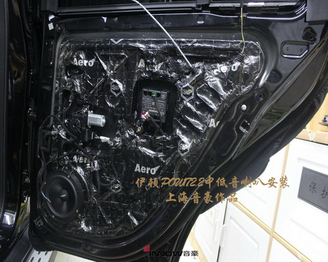 神清气爽 奔驰gle400汽车音响改装德国伊顿 pro 170.