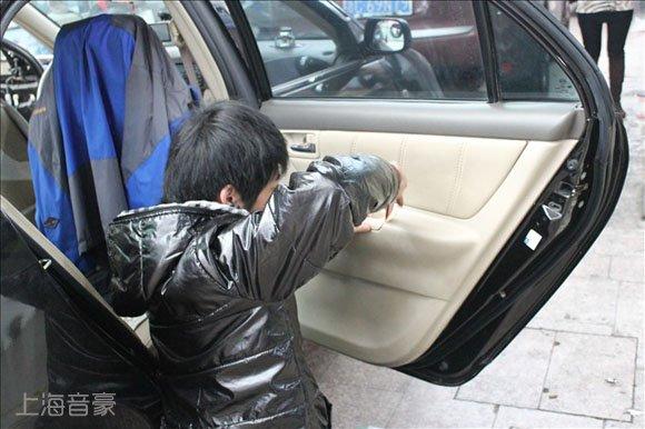 上海音豪:比亚迪f3汽车音响改装,升级两套雷贝琴喇叭